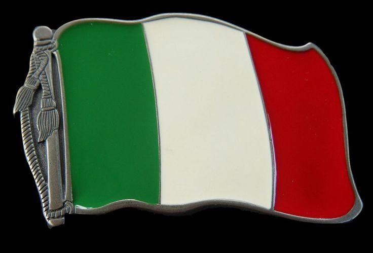Italy Italian Country Flag Belt Buckle Boucle de Ceinture #Italy #Italian #italyflag #italianflag #italyflagbuckle #flagbuckle #flagbeltbuckle #beltbuckles