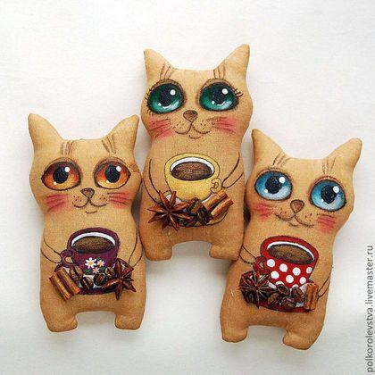 Ароматизированные куклы ручной работы. Ярмарка Мастеров - ручная работа Котята кофе+корица. Handmade.