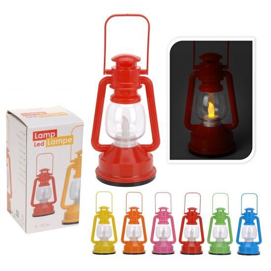 Tuin artikelen, Gekleurde lantaarn met LED lichtje bij Feestwinkel Fun en Feest Belgi�. Online Gekleurde lantaarn met LED lichtje bestellen. Verzending Belgi�