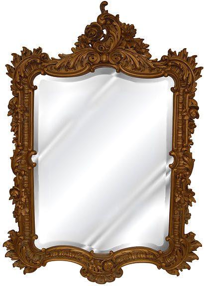 Elegant <b>Wall</b> Mirror Antique Reproduction, Antique <b>Gold Color</b> Finish