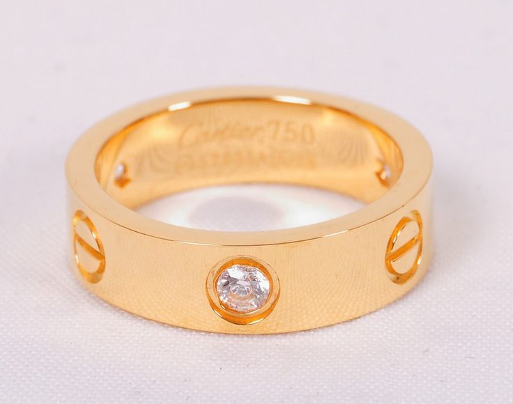 Кольцо Cartier золотистое с камнем #20014
