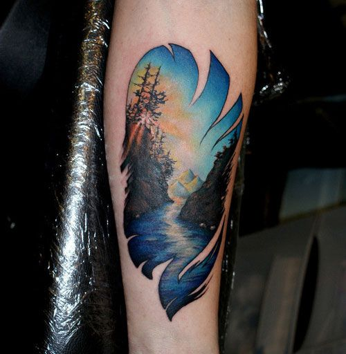 Nature Tattoos On Pinterest: 35 Best Images About Camping/Mountains Tattoo On Pinterest