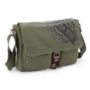 IPAD mens canvas messenger bag, canvas military messenger bag