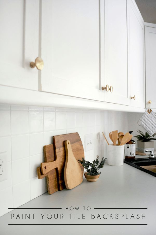 How To Paint Your Tile Backsplash Painting Kitchen Tiles Tile