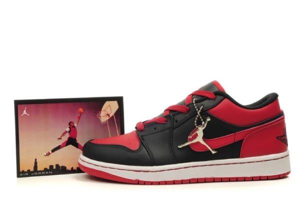 7527 Discount Black Red Air Jordan Retro 1 Low Shoes Mens 76190