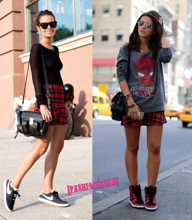 La mini falda escocesa de Zara es el nuevo negro (para las blogueras de moda)