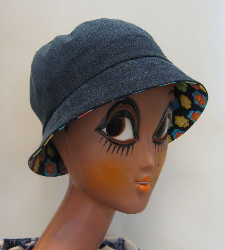 Farkkuinen lierihattu - Hat from old recycled jeans