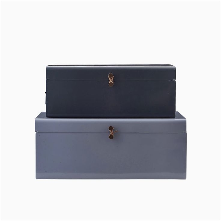 Stunning handmade metal storage suitcases. Designed in Denmark.