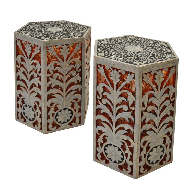Tony Duquette (1914-1999) Pair of small Illuminated Tables