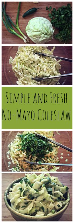 CSA Box Veggies: What to do With Cabbage~ Make a wonderful light and fresh no-mayo coleslaw! http://www.growforagecookferment.com