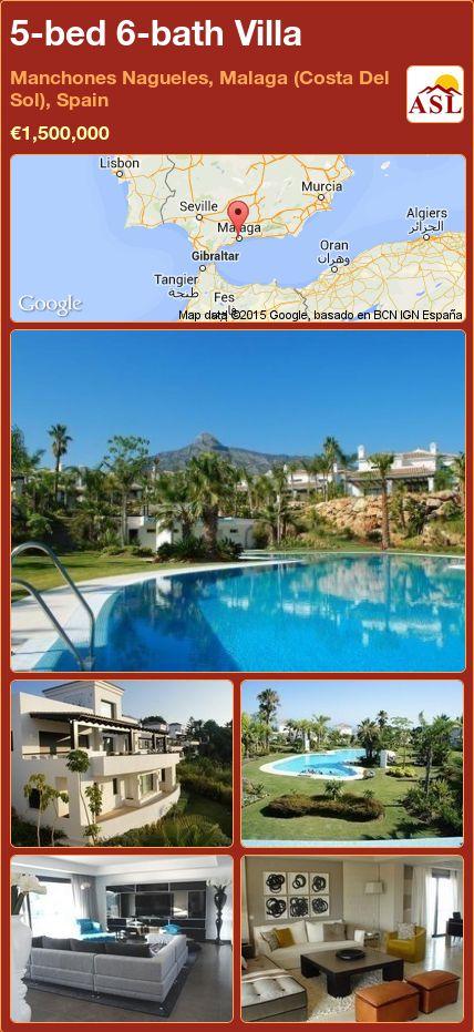 5-bed 6-bath Villa in Manchones Nagueles, Malaga (Costa Del Sol), Spain ►€1,500,000 #PropertyForSaleInSpain