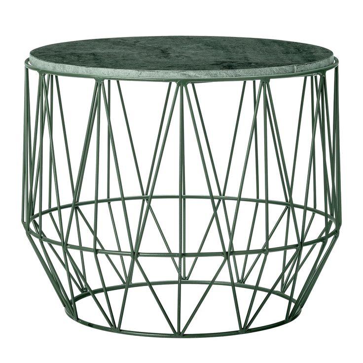 Wire sidobord, grön marmor i gruppen Möbler / Bord / Sidobord & Småbord hos RUM21.se (1023268)