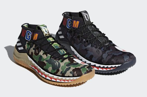 best service 686aa 026dc Official Images Of The BAPE x adidas Dame 4 Camo Pack Above you will find  official