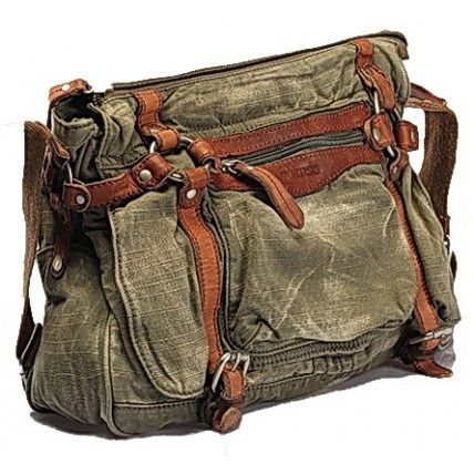 #03 'ADVENTURE VINTAGE™' Vintage Washed Canvas Leather Messenger Bag