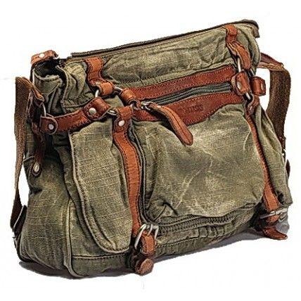 #03 'ADVENTURE VINTAGE™' Vintage Washed Canvas Leather Messenger Bag