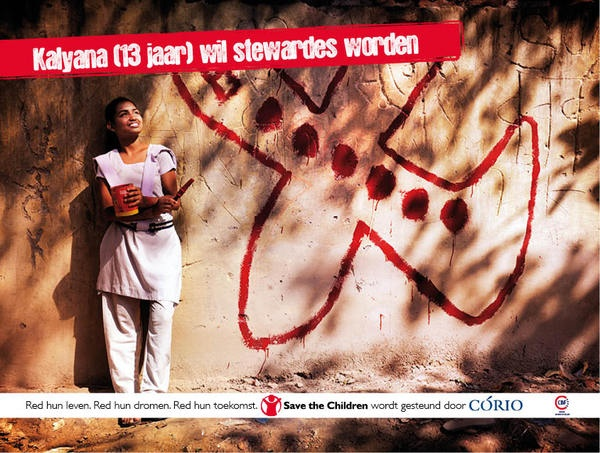 Ontwerp poster Save the Children