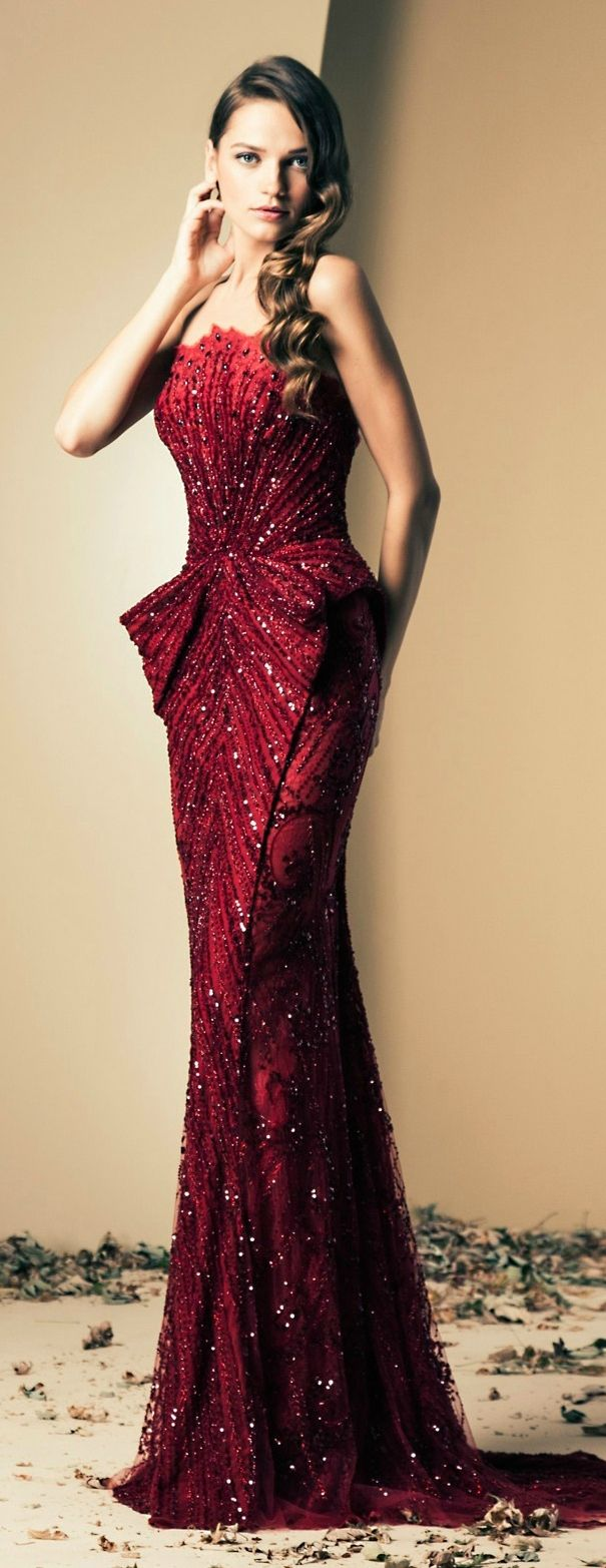 Ziad Nakad Fall/Winter 2014 If you can pull this dress off its for define purpose. In love with this gown!