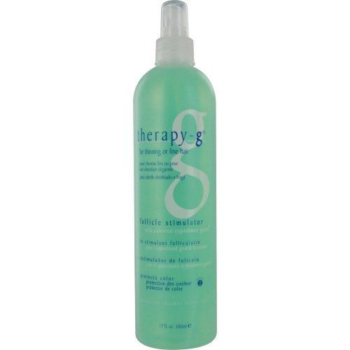 Therapy-G For Thinning or Fine Hair Follicle Stimulator, 17 Ounce by Therapy-G. Save 4 Off!. $90.74. Delivers tryptobond guard to individual shafts of hair. Follicle stimulator with patented tryptobond guard. Nourishes the follicle for thicker, fuller hair. The Therapy-G complex of proteins, vitamins and botanicals is formulated to be the most effective treatment and fashion styling for thinning or fine hair.
