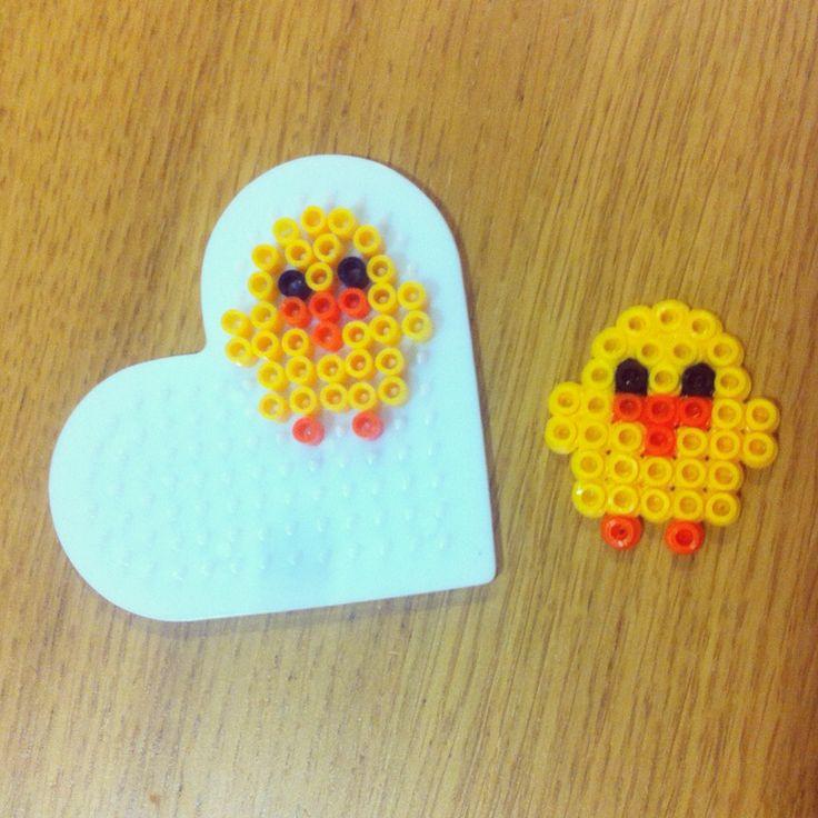 Pollito con perlas de planchar  Chick Hama beads
