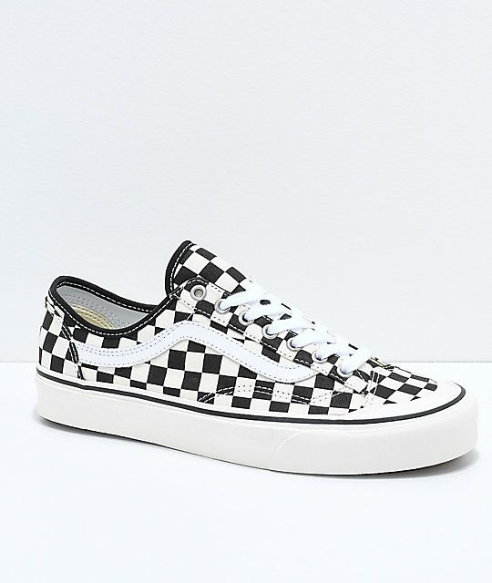7ac0399777 Vans Style 36 Decon SF Black   White Checkered Skate Shoes in 2019 ...
