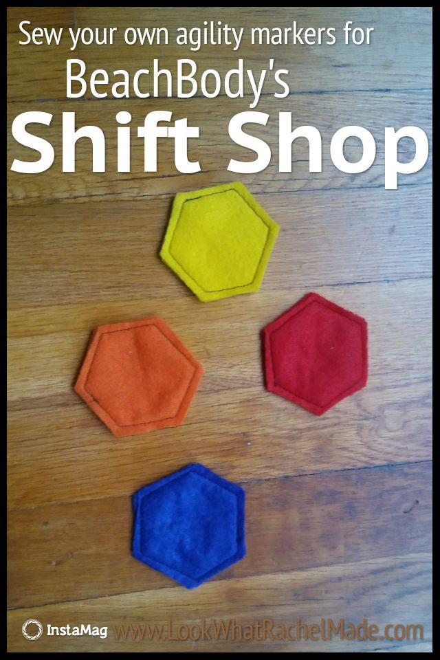 Felt agility markers for BeachBody's shift shop