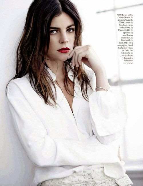 Julia Restoin Roitfeld En Blanc - Journal - I Want To Be A Roitfeld