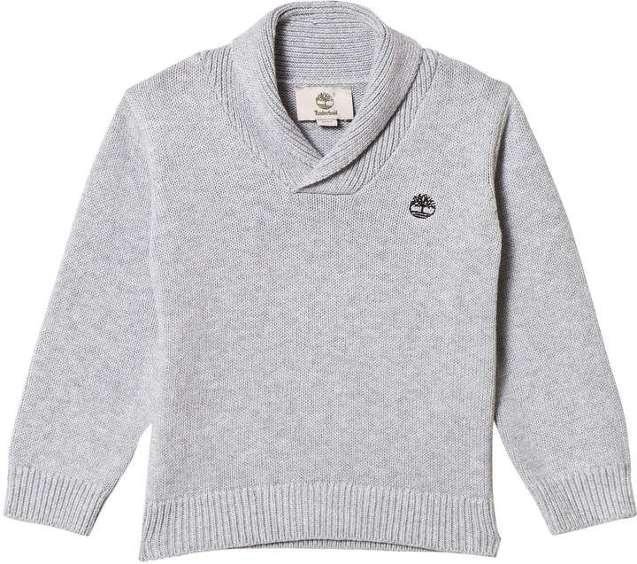 36aff01e5567 Kids Grey Cable Knit Logo Jumper  Kids crafted Timberland