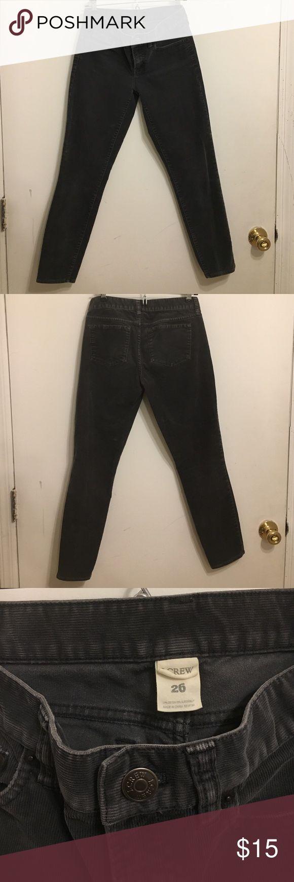 Jcrew Cropped Cord Pants Dark grey cord pants J. Crew Pants Ankle & Cropped