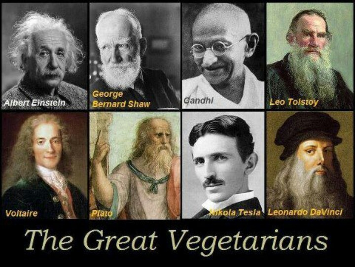 Great beings that practiced & supported a cruelty-free lifestyle.