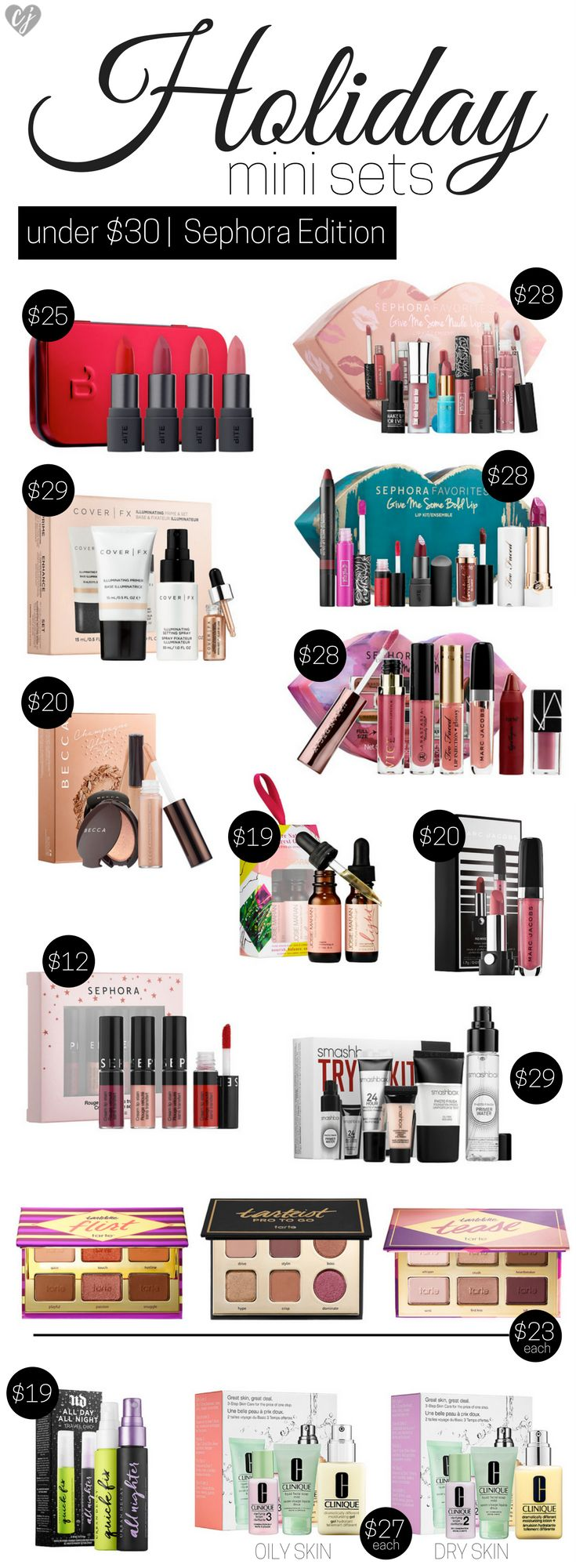 Brands are wowing us with all the best gifts sets for the holidays. Check out this guide for the best mini sets to purchase at Ulta & Sephora all under $30.