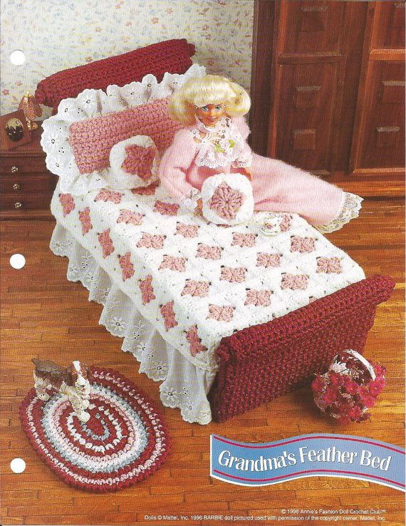 Crochet Pattern Crochet Barbie Bed Pattern Barbie Accessories