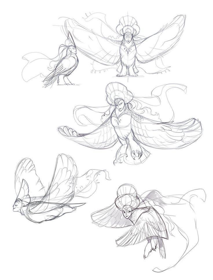 Alkonost sketches by Drkav.deviantart.com on @DeviantArt