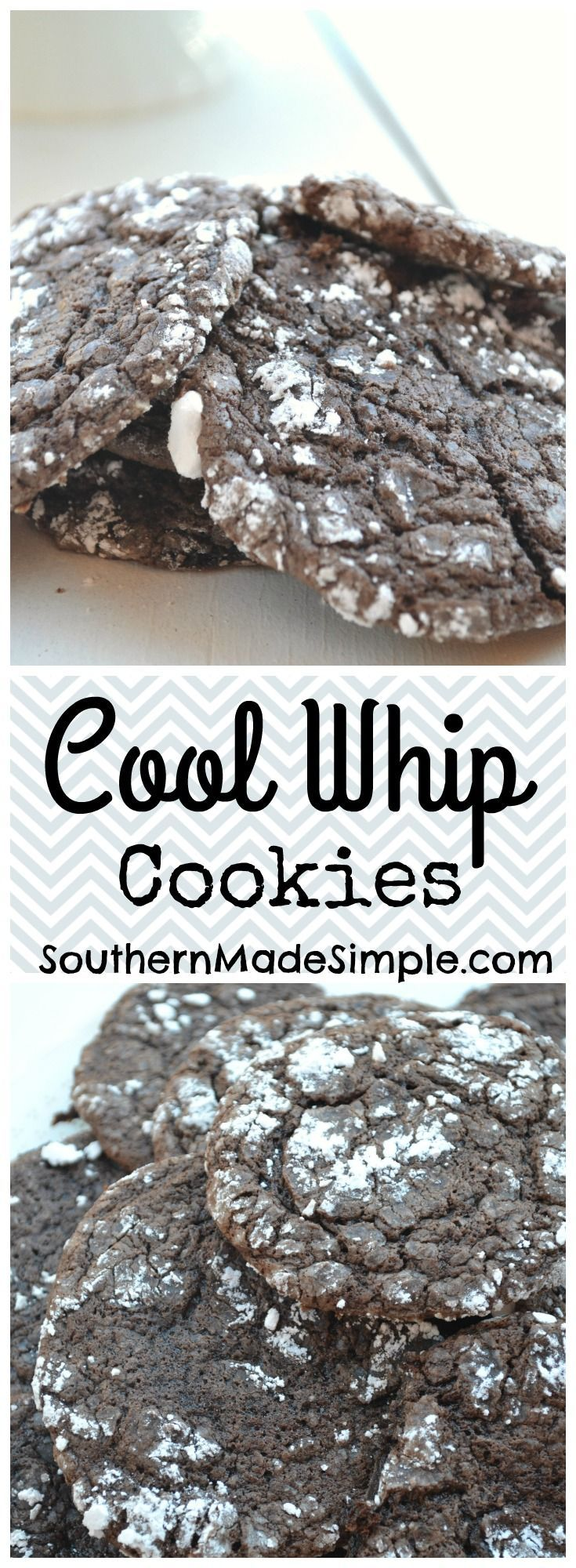 Easy Cool Whip Cookies - These deliciously sweet cookies are SO simple to make, and only require 4 ingredients! They're perfect to make in a flash and can be made using any flavor of cake mix that you'd like! #cookieswappingood