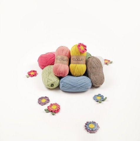 ¡Hoy damos la bienvenida a Drops Flora! Una combinación preciosa de lana y alpaca. Y para recibirla como se merece, ¡25% de descuento! 🎉 http://www.misskits.com/categoria/Drops/Flora