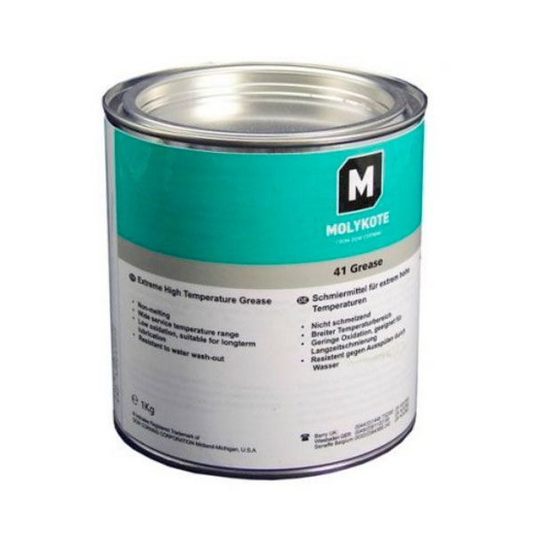 Molykote 41 is a silicone grease that is ideal for oven conveyers, molten salt evacuation pumps, kin dollies, steam turbine regulator links, knife-edge power breakers and much more. The advance material can be used at temperatures higher than those of normal silicone greases.