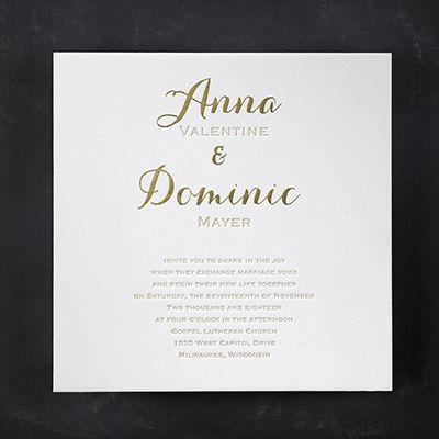 Joyous Spectacle Elegant White Square Wedding Invitations  Http://partyblockinvitations.occasions Sa
