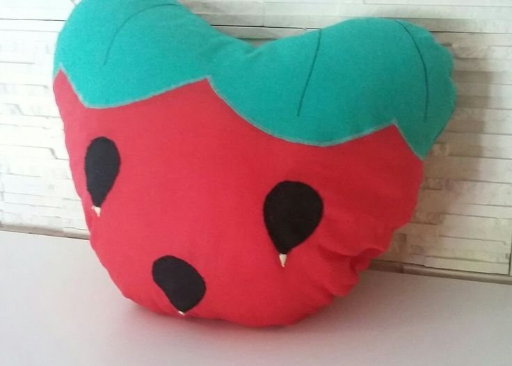 Soft strawberry pillow