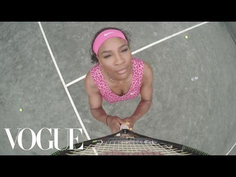 "Our April cover star Serena Williams pulled a Beyoncé at the BallenIsles Country Club, practicing power shots and Bey-worthy dance moves to ""7/11."" Watch her..."