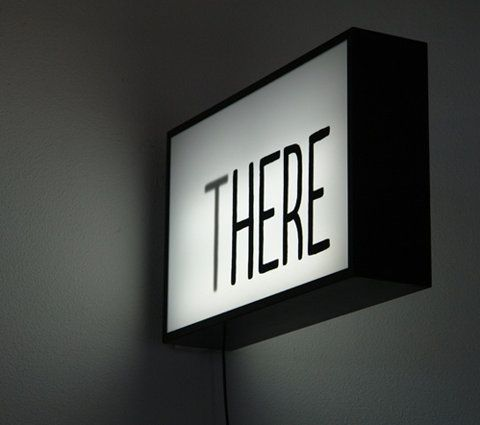 'THERE' Lightbox Sign. #lightbox #signage