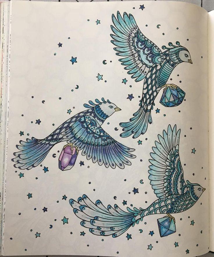 "Ulla Eriksson (@ullame) på Instagram: ""#summernight #coloringbook #hannakarlzonbook"""