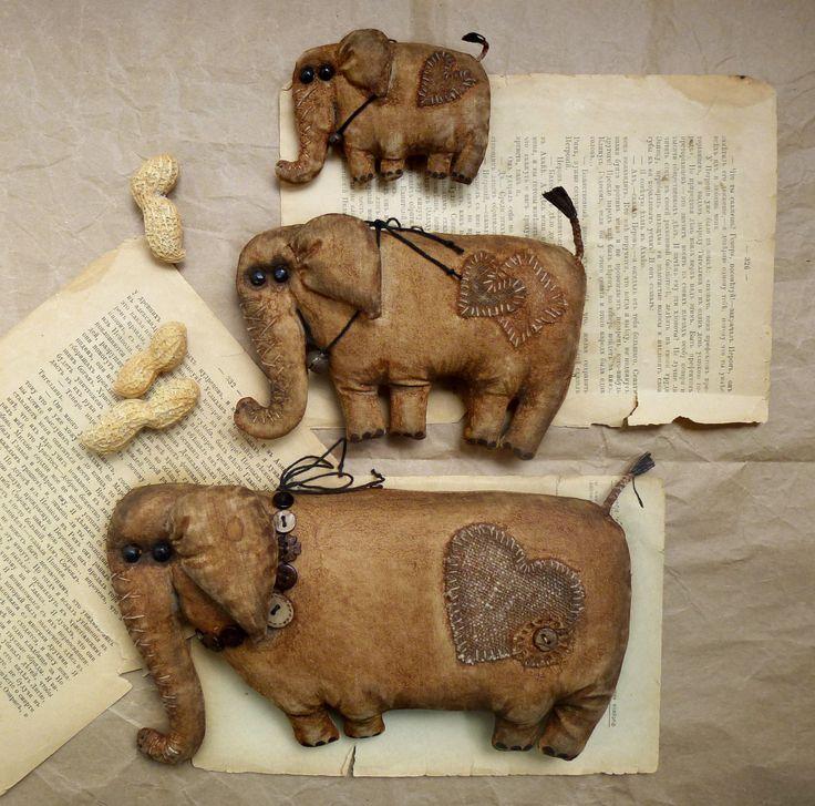 Elefante decoración primitiva familia arte textil juguete
