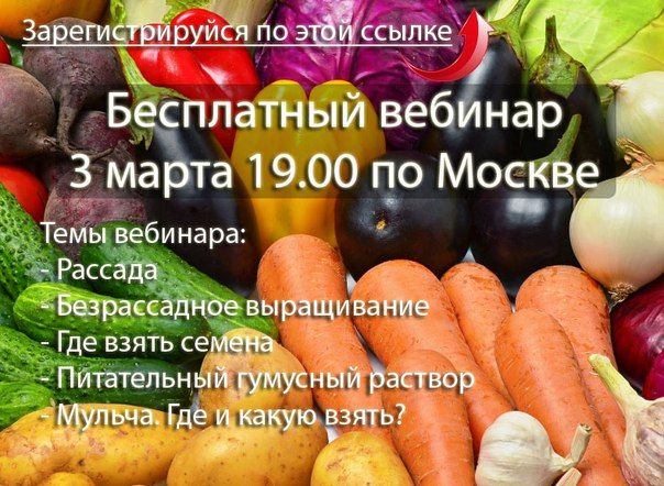 Органическое земледелие. Бесплатный вебинар!