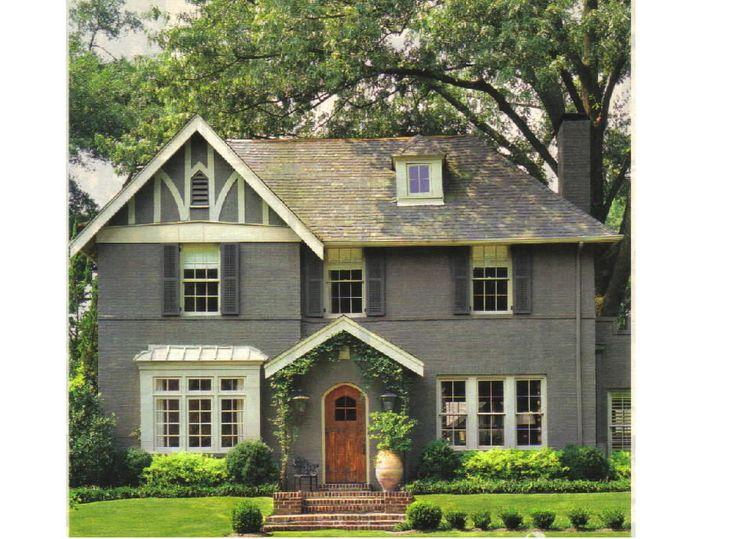 Gray White Tudor House Stuff Pinterest Paint Colors Exterior Colors And The Doors