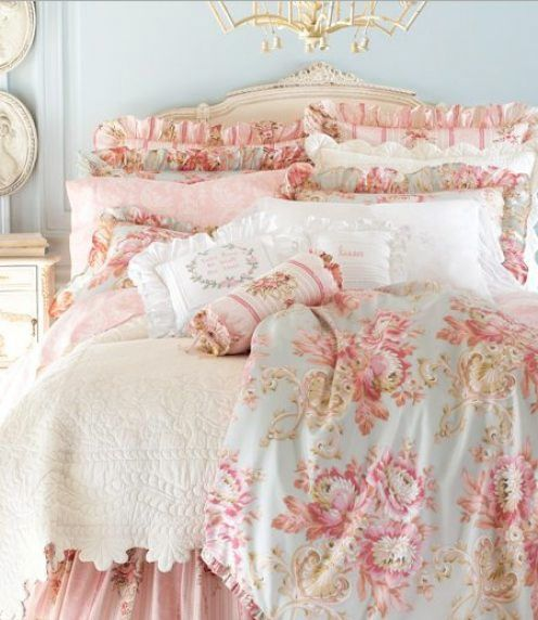 31 ljuvligaste sovrummen i shabby chic stil bettwaesche. Black Bedroom Furniture Sets. Home Design Ideas