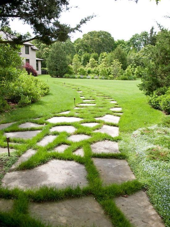 mit gras bewachsener gartenweg-ideen landschaft-architektur