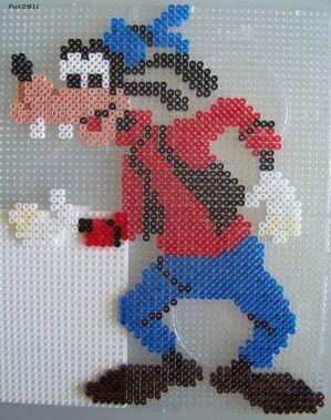 Goofy hama perler beads by Les loisirs de Pat