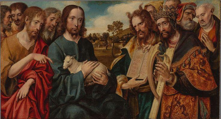 Christ as the Good Shepherd / Cristo como El Buen Pastor // ca. 1510 // Cornelis Engebrechtsz. | Collection Boijmans