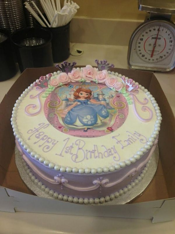 Sylvia's Sweet Treats - Sofia the First birthday cake