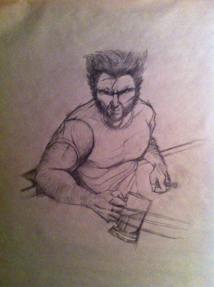 My sketch of Wolverine...