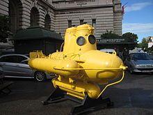 Cousteau's submarine near Oceanographic Museum in Monaco